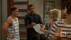 Aaron Brennan, Nate Kinski, Sheila Canning in Neighbours Episode 7160