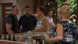 Karl Kennedy, Nate Kinski, Aaron Brennan, Sheila Canning in Neighbours Episode 7161