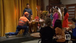 Aaron Brennan, Nate Kinski, Hayley Hahn in Neighbours Episode 7161