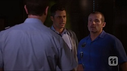 Senior Sergeant Milov Frost, Mark Brennan, Toadie Rebecchi in Neighbours Episode 7161