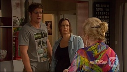 Kyle Canning, Amy Williams, Sheila Canning in Neighbours Episode 7165