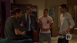 Tyler Brennan, Toadie Rebecchi, Aaron Brennan, Mark Brennan in Neighbours Episode 7166