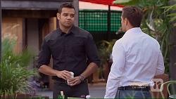 Nate Kinski, Aaron Brennan in Neighbours Episode 7166