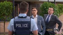 Mark Brennan, Aaron Brennan, Toadie Rebecchi in Neighbours Episode 7166