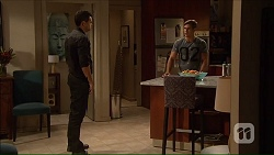 Nate Kinski, Aaron Brennan in Neighbours Episode 7167