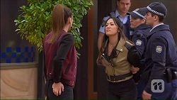 Paige Novak, Michelle Kim, Mark Brennan in Neighbours Episode 7167