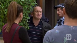 Paige Novak, Dennis Dimato, Aaron Brennan in Neighbours Episode 7167