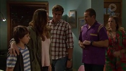 Jimmy Williams, Amy Williams, Kyle Canning, Toadie Rebecchi, Sonya Mitchell in Neighbours Episode 7170