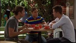 Tyler Brennan, Aaron Brennan, Mark Brennan in Neighbours Episode 7170