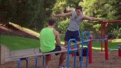 Aaron Brennan, Josh Willis in Neighbours Episode 7170