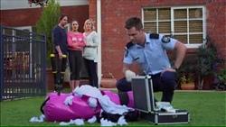 Brad Willis, Paige Smith, Lauren Turner, Mark Brennan in Neighbours Episode 7171