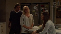 Brad Willis, Lauren Turner, Paige Smith in Neighbours Episode 7172