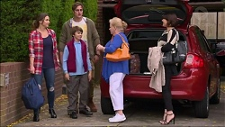 Amy Williams, Kyle Canning, Jimmy Williams, Sheila Canning, Naomi Canning in Neighbours Episode 7173