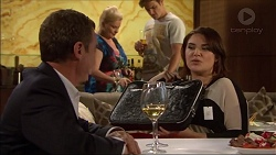 Paul Robinson, Sheila Canning, Kyle Canning, Naomi Canning in Neighbours Episode 7173