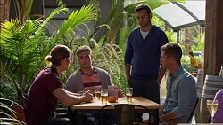 Tyler Brennan, Aaron Brennan, Nate Kinski, Mark Brennan in Neighbours Episode 7174