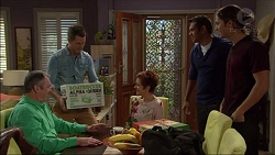 Karl Kennedy, Mark Brennan, Susan Kennedy, Nate Kinski, Tyler Brennan in Neighbours Episode 7174