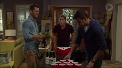 Mark Brennan, Tyler Brennan, Nate Kinski in Neighbours Episode 7174