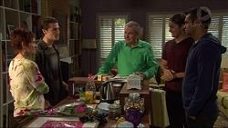 Susan Kennedy, Ben Kirk, Karl Kennedy, Tyler Brennan, Nate Kinski in Neighbours Episode 7175