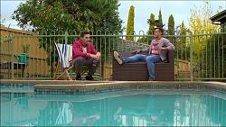 Josh Willis, Aaron Brennan in Neighbours Episode 7175