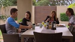 Josh Willis, Imogen Willis, Terese Willis, Brad Willis in Neighbours Episode 7176