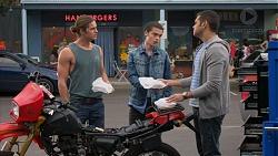 Tyler Brennan, Ben Kirk, Nate Kinski in Neighbours Episode 7177