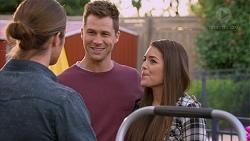 Tyler Brennan, Mark Brennan, Paige Novak in Neighbours Episode 7177