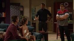 Mark Brennan, Paige Smith, Nate Kinski, Aaron Brennan in Neighbours Episode 7178