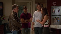 Russell Brennan, Aaron Brennan, Mark Brennan, Paige Novak in Neighbours Episode 7179