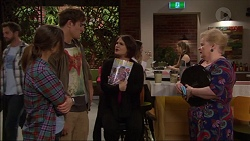 Amy Williams, Kyle Canning, Naomi Canning, Sheila Canning in Neighbours Episode 7179