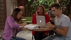 Imogen Willis, Terese Willis, Josh Willis in Neighbours Episode 7180