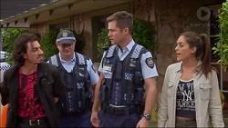 Joey Dimato, Mark Brennan, Paige Novak in Neighbours Episode 7183