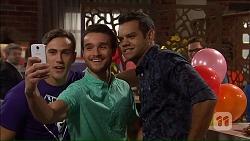 Aaron Brennan, Eddie Bull, Nate Kinski in Neighbours Episode 7185