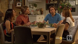 Imogen Willis, Daniel Robinson, Brad Willis, Terese Willis in Neighbours Episode 7187