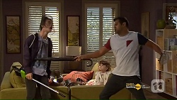 Ben Kirk, Nell Rebecchi, Nate Kinski in Neighbours Episode 7187