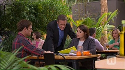 Kyle Canning, Paul Robinson, Naomi Canning in Neighbours Episode 7188