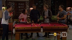 Josh Willis, Imogen Willis, Nate Kinski, Daniel Robinson, Aaron Brennan in Neighbours Episode 7191