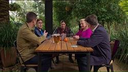 Mark Brennan, Aaron Brennan, Tyler Brennan, Sheila Canning, Russell Brennan in Neighbours Episode 7193