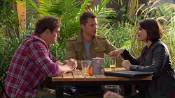 Kyle Canning, Mark Brennan, Naomi Canning in Neighbours Episode 7193