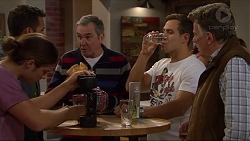 Tyler Brennan, Nate Kinski, Karl Kennedy, Aaron Brennan, Russell Brennan in Neighbours Episode 7195