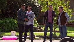 Nate Kinski, Aaron Brennan, Tyler Brennan, Russell Brennan in Neighbours Episode 7195
