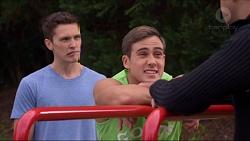 Josh Willis, Aaron Brennan, Nate Kinski in Neighbours Episode 7198