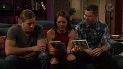 Tyler Brennan, Paige Smith, Mark Brennan in Neighbours Episode 7198