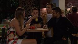 Milla Poulos, Josh Willis, Aaron Brennan, Nate Kinski in Neighbours Episode 7198