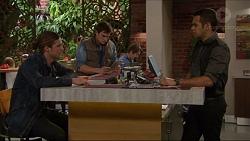 Tyler Brennan, Kyle Canning, Nate Kinski in Neighbours Episode 7199