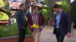 Tyler Brennan, Aaron Brennan, Greg Keys in Neighbours Episode 7199