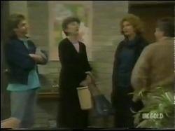 Shane Ramsay, Nell Mangel, Madge Bishop, Tom Ramsay in Neighbours Episode 0302
