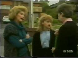Madge Bishop, Charlene Mitchell, Nell Mangel in Neighbours Episode 0302