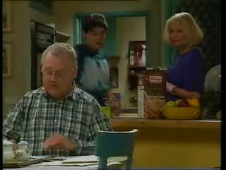 Harold Bishop, Paul McClain, Madge Bishop in Neighbours Episode 3263
