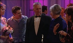 Felicity Scully, Tad Reeves, Harold Bishop, Madge Bishop, Lyn Scully in Neighbours Episode 3670
