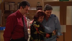 Karl Kennedy, Lyn Scully, Joe Scully in Neighbours Episode 3671